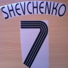 SHEVCHENKO 7 CHELSEA AWAY THIRD UCL 2006 2008 NAME NUMBER SET NAMESET KIT PRINT