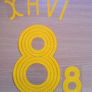 XAVI HERNANDEZ 8 SPAIN HOME WORLD CUP 2006 NAME NUMBER SET NAMESET KIT PRINT