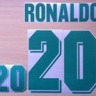 RONALDO 20 BRAZIL HOME WC 1994 NAME NUMBER SET NAMESET KIT PRINT NUMBERING