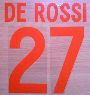 DE ROSSI 27 AS ROMA THIRD 2002 2003 NAME NUMBER SET NAMESET KIT PRINT NUMBERING