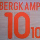 BERGKAMP 10 NETHERLANDS AWAY EURO 2000 NAME NUMBER SET NAMESET KIT PRINT HOLLAND
