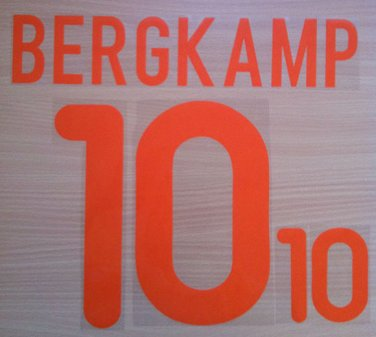 BERGKAMP 10 NETHERLANDS AWAY EURO 2000 NAME NUMBER SET NAMESET KIT PRINT HOLLAND