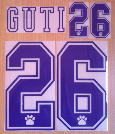 GUTI 26 REAL MADRID HOME 1995 1996 NAME NUMBER SET NAMESET KIT PRINT RETRO