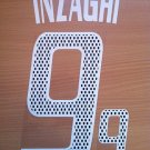 INZAGHI 9 AC MILAN HOME 2002 2004  NAME NUMBER SET NAMESET KIT PRINT RETRO