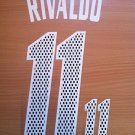 RIVALDO 11 AC MILAN HOME 2002 2004  NAME NUMBER SET NAMESET KIT PRINT RETRO
