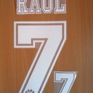 RAUL BLANCO 7 REAL MADRID AWAY 1996 1998 NAME NUMBER SET NAMESET KIT PRINT RETRO