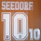 SEEDORF 10 REAL MADRID AWAY 1996 1998 NAME NUMBER SET NAMESET KIT PRINT RETRO