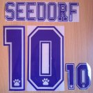 SEEDORF 10 REAL MADRID HOME 1996 1998 NAME NUMBER SET NAMESET KIT PRINT RETRO