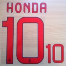 KEISUKE HONDA 10 AC MILAN AWAY 2013 2014 NAME NUMBER SET NAMESET KIT PRINT