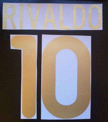 RIVALDO 10 BARCELONA HOME 2001 2002 NAME NUMBER SET NAMESET KIT PRINT
