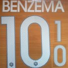 BENZEMA 10 FRANCE HOME 2014 2015 NAME NUMBER SET NAMESET KIT PRINT FOOTBALL