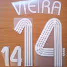 VIEIRA 14 FRANCE HOME WORLD CUP 2006 NAME NUMBER SET NAMESET KIT PRINT