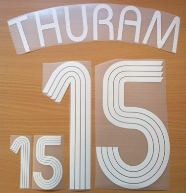 THURAM 15 FRANCE HOME WORLD CUP 2006 NAME NUMBER SET NAMESET KIT PRINT