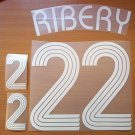 RIBERY 22 FRANCE HOME WORLD CUP 2006 NAME NUMBER SET NAMESET KIT PRINT
