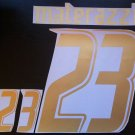 MATERAZZI 23 ITALY HOME WORLD CUP 2006 NAME NUMBER SET NAMESET KIT PRINT