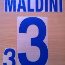 MALDINI 3 ITALY AWAY WORLD CUP 2002 NAME NUMBER SET NAMESET KIT PRINT NUMBERING