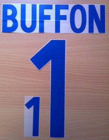 BUFFON 1 ITALY AWAY WORLD CUP 2002 NAME NUMBER SET NAMESET KIT PRINT NUMBERING