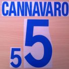 FABIO CANNAVARO 5 ITALY AWAY WORLD CUP 2002 NAME NUMBER SET NAMESET KIT PRINT