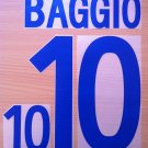 BAGGIO 10 ITALY AWAY 2002 NAME NUMBER SET NAMESET KIT PRINT NUMBERING