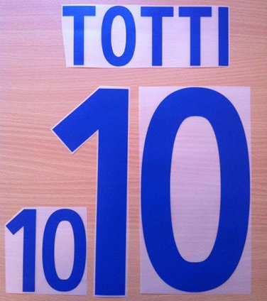 TOTTI 10 ITALY AWAY WORLD CUP 2002 NAME NUMBER SET NAMESET KIT PRINT NUMBERING