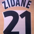 ZIDANE 21 JUVENTUS THIRD 1998 1999 NAME NUMBER SET NAMESET KIT PRINT NUMBERING