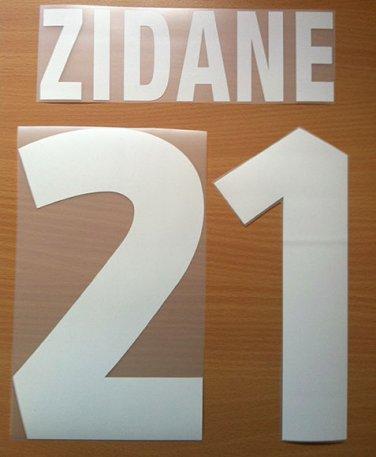 ZIDANE 21 JUVENTUS HOME 1999 2000 NAME NUMBER SET NAMESET KIT PRINT NUMBERING