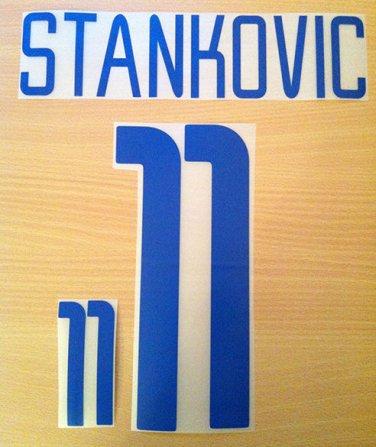 STANKOVIC 11 INTER AWAY UCL 2002 2004 NAME NUMBER SET NAMESET KIT PRINT