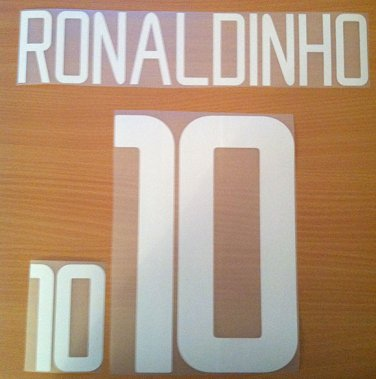 RONALDINHO 10 BRAZIL AWAY WORLD CUP 2002 NAME NUMBER SET NAMESET KIT PRINT