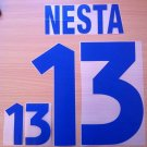 NESTA 13 ITALY AWAY EURO 2000 NAME NUMBER SET NAMESET KIT PRINT NUMBERING