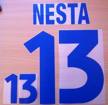 NESTA 13 ITALY AWAY EURO 2000 NAME NUMBER SET NAMESET KIT PRINT NUMBERING