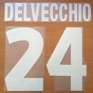 DELVECCHIO 24 AS ROMA HOME 2000 2002 NAME NUMBER SET NAMESET KIT PRINT NUMBERING