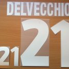 DELVECCHIO 21 ITALY HOME EURO 2000 NAME NUMBER SET NAMESET KIT PRINT NUMBERING