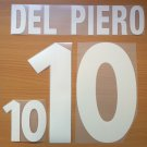 DEL PIERO 10 ITALY HOME EURO 2000 NAME NUMBER SET NAMESET KIT PRINT NUMBERING