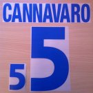 CANNAVARO 5 ITALY AWAY EURO 2000 NAME NUMBER SET NAMESET KIT PRINT NUMBERING