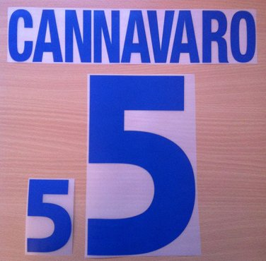 CANNAVARO 5 ITALY AWAY EURO 2000 NAME NUMBER SET NAMESET KIT PRINT NUMBERING