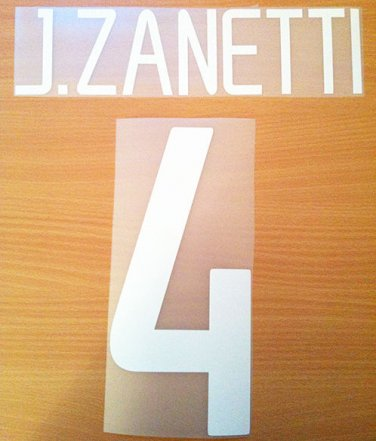 JAVIER ZANETTI 4 INTERNAZIONALE HOME 2002 2004 NAME NUMBER SET NAMESET KIT PRINT