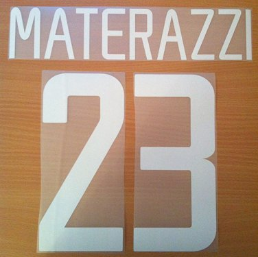 MATERAZZI 23 INTERNAZIONALE HOME 2002 2004 NAME NUMBER SET NAMESET KIT PRINT