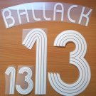 BALLACK 13 AWAY GERMANY WORLD CUP 2006 NAME NUMBER SET NAMESET KIT PRINT