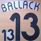 BALLACK 13 HOME GERMANY WORLD CUP 2006 NAME NUMBER SET NAMESET KIT PRINT