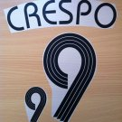 CRESPO 9 ARGENTINA HOME WORLD CUP 2006 NAME NUMBER SET NAMESET KIT PRINT
