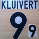 KLUIVERT 9 NETHERLANDS HOME EURO 2000 NAME NUMBER SET NAMESET KIT PRINT HOLLAND