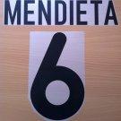 MENDIETA 6 VALENCIA HOME 2000 2001 NAME NUMBER SET NAMESET KIT PRINT NUMBERING