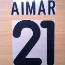 AIMAR 21 VALENCIA HOME 2000 2001 NAME NUMBER SET NAMESET KIT PRINT NUMBERING