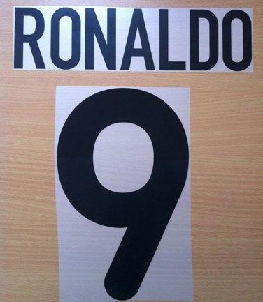 RONALDO 9 INTER AWAY 2000 2001 NAME NUMBER SET NAMESET KIT PRINT NUMBERING