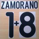 ZAMORANO 18 INTER AWAY 2000 2001 NAME NUMBER SET NAMESET KIT PRINT NUMBERING