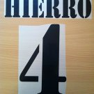 HIERRO 4 REAL MADRID HOME 2001 2002 NAME NUMBER SET NAMESET KIT PRINT