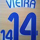 VIEIRA 14 FRANCE AWAY WORLD CUP 2006 NAME NUMBER SET NAMESET KIT PRINT