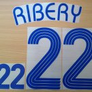 RIBERY 22 FRANCE AWAY WORLD CUP 2006 NAME NUMBER SET NAMESET KIT PRINT