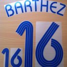 BARTHEZ 16 FRANCE AWAY WORLD CUP 2006 NAME NUMBER SET NAMESET KIT PRINT