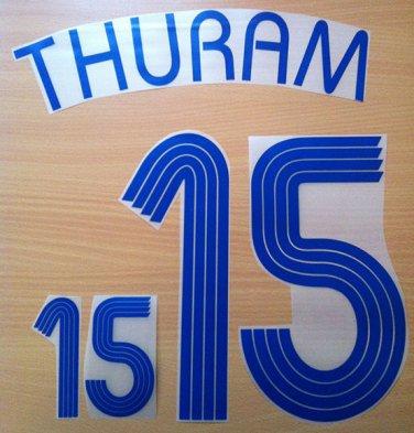 THURAM 15 FRANCE AWAY WORLD CUP 2006 NAME NUMBER SET NAMESET KIT PRINT